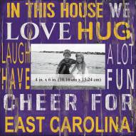 """East Carolina Pirates In This House 10"""" x 10"""" Picture Frame"""