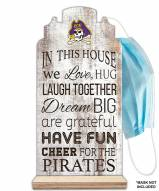East Carolina Pirates In This House Mask Holder