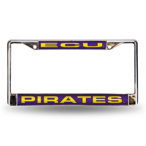 East Carolina Pirates Laser Chrome License Plate Frame