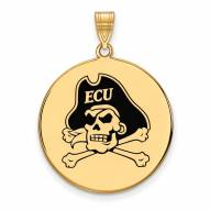 East Carolina Pirates Sterling Silver Gold Plated Extra Large Pendant