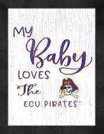 East Carolina Pirates My Baby Loves Framed Print