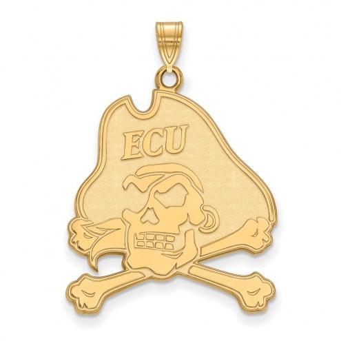 East Carolina Pirates NCAA Sterling Silver Gold Plated Extra Large Pendant