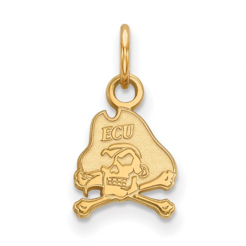 East Carolina Pirates NCAA Sterling Silver Gold Plated Extra Small Pendant