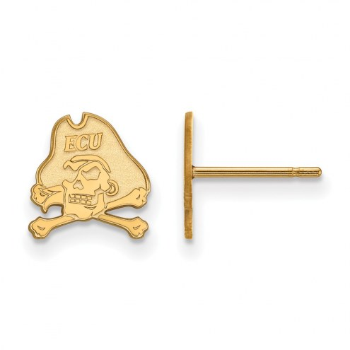 East Carolina Pirates NCAA Sterling Silver Gold Plated Extra Small Post Earrings