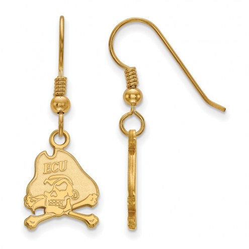 East Carolina Pirates NCAA Sterling Silver Gold Plated Small Dangle Earrings