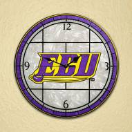 East Carolina Pirates NCAA Stained Glass Wall Clock
