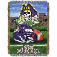 East Carolina Pirates NCAA Woven Tapestry Throw Blanket