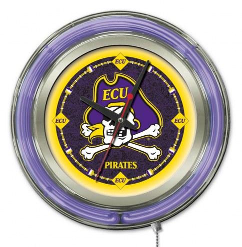East Carolina Pirates Neon Clock