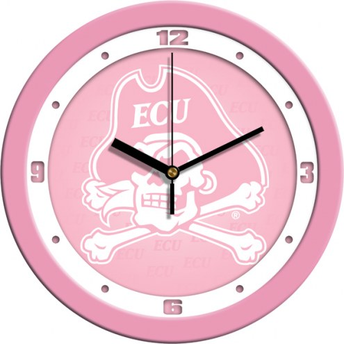 East Carolina Pirates Pink Wall Clock