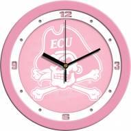 East Carolina Pirates Pink Wall Clock