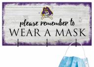 East Carolina Pirates Please Wear Your Mask Sign