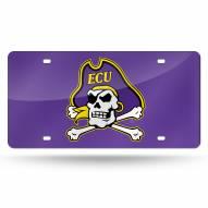 East Carolina Pirates Purple Laser Cut License Plate