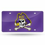 East Carolina Pirates Purple Laser Cut License Plate