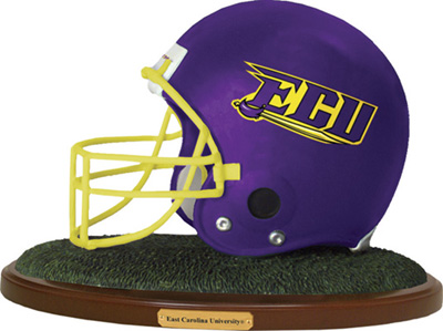 East Carolina Pirates Collectible Football Helmet Figurine