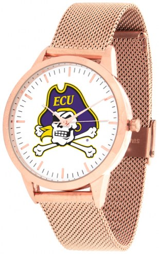 East Carolina Pirates Rose Mesh Statement Watch