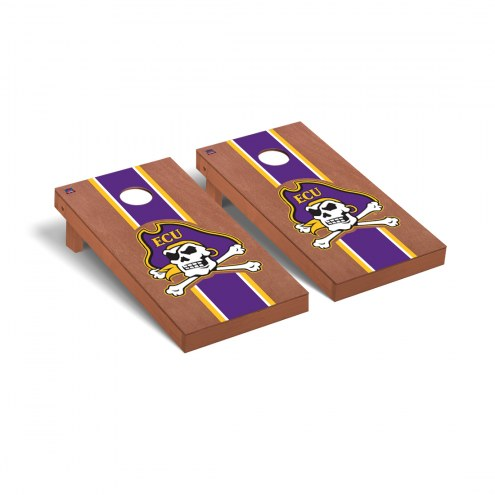 East Carolina Pirates Rosewood Stained Cornhole Game Set