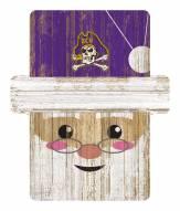 East Carolina Pirates Santa Ornament