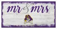 East Carolina Pirates Script Mr. & Mrs. Sign