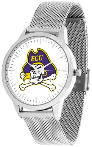 East Carolina Pirates Silver Mesh Statement Watch