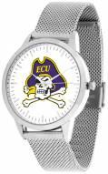 East Carolina Pirates Silver Mesh Statement Watch