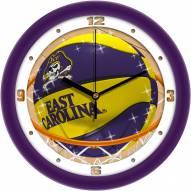 East Carolina Pirates Slam Dunk Wall Clock