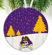East Carolina Pirates Snow Scene Ornament