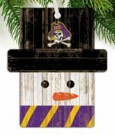 East Carolina Pirates Snowman Ornament