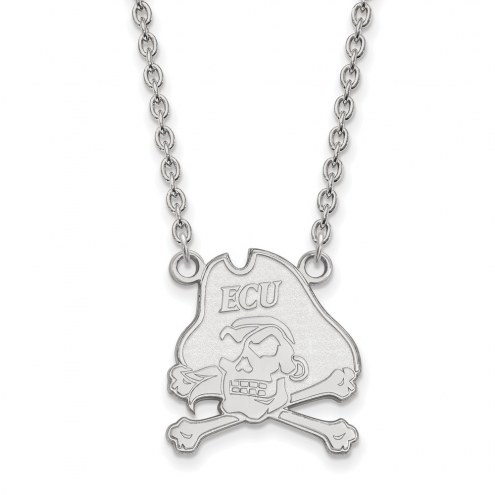 East Carolina Pirates Sterling Silver Large Pendant Necklace