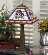 East Carolina Pirates Stained Glass Mission Table Lamp
