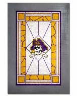 East Carolina Pirates Stained Glass with Frame