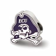 East Carolina Pirates Sterling Silver Enameled Bead