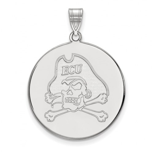 East Carolina Pirates Sterling Silver Extra Large Disc Pendant