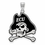 East Carolina Pirates Sterling Silver Extra Large Enameled Pendant