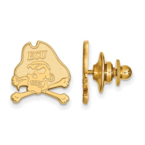 East Carolina Pirates Sterling Silver Gold Plated Lapel Pin