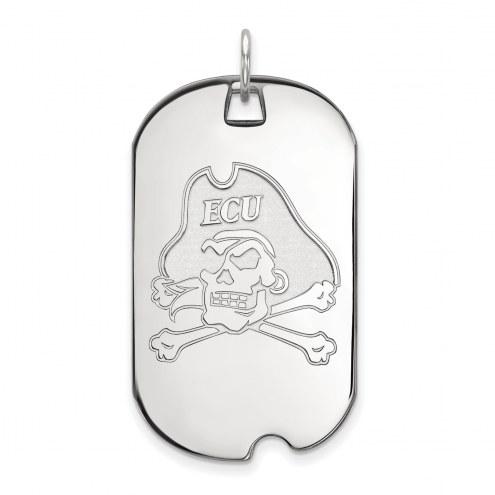 East Carolina Pirates Sterling Silver Large Dog Tag