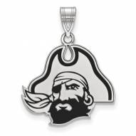 East Carolina Pirates Sterling Silver Large Enameled Pendant