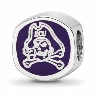 East Carolina Pirates Sterling Silver Logo Bead