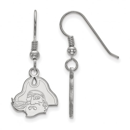 East Carolina Pirates Sterling Silver Small Dangle Earrings