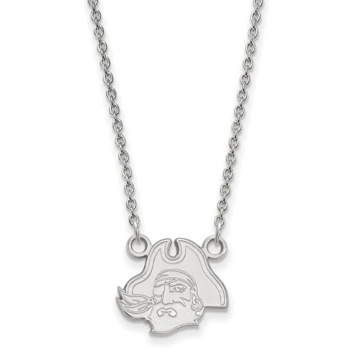 East Carolina Pirates Sterling Silver Small Pendant Necklace