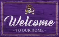 East Carolina Pirates Team Color Welcome Sign