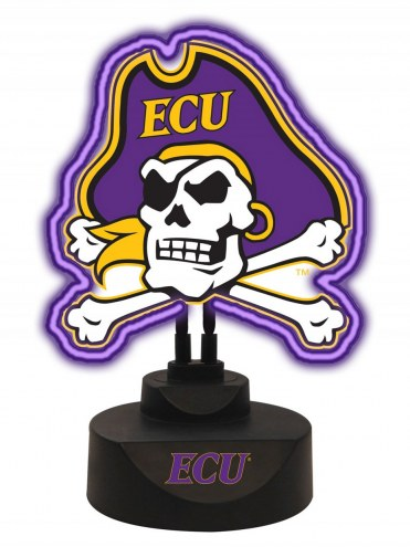 East Carolina Pirates Team Logo Neon Light