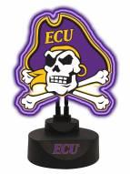 East Carolina Pirates Team Logo Neon Light