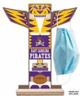 East Carolina Pirates Totem Mask Holder
