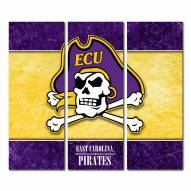East Carolina Pirates Triptych Double Border Canvas Wall Art