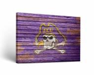 East Carolina Pirates Weathered Canvas Wall Art