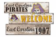 East Carolina Pirates Welcome 3 Plank Sign