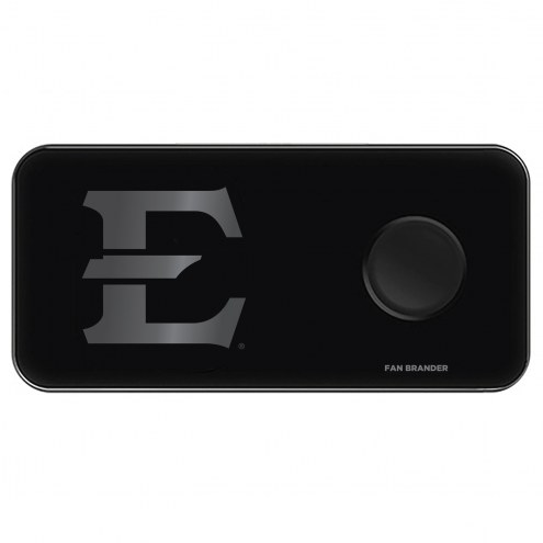 East Tennessee State Buccaneers 3 in 1 Glass Wireless Charge Pad