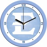 East Tennessee State Buccaneers Baby Blue Wall Clock