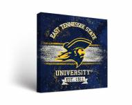 East Tennessee State Buccaneers Banner Canvas Wall Art