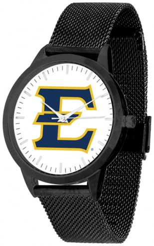 East Tennessee State Buccaneers Black Mesh Statement Watch
